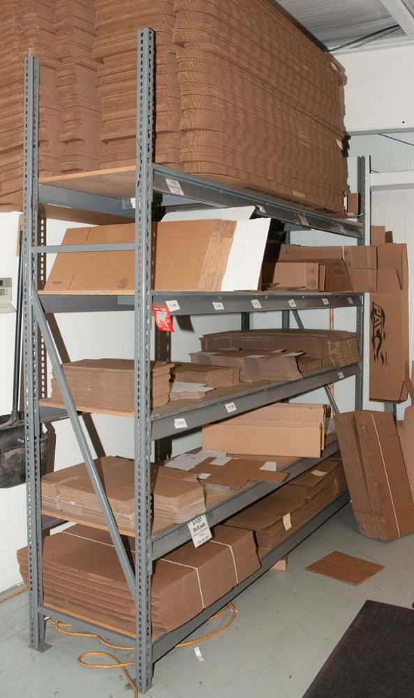 """(5) Sections Steel Racking, (2) 8' x 24"""" Uprights, (44) 96"""" 2150lb cap. Load Beams, No Contents (on - Image 2 of 3"""