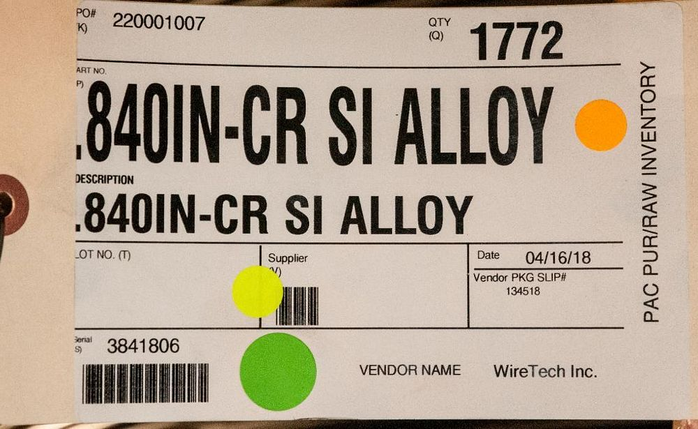 (2) Hats with coils CR SI Alloy .840 Diam. Steel, 3476 lbs. Total. According to tags, Inspect, See P - Image 3 of 3