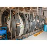 Upright coil storage rack for 20 Coils, Includes 18 Coils CRSIVAN Diams. From .330-.650 23,459 lbs T