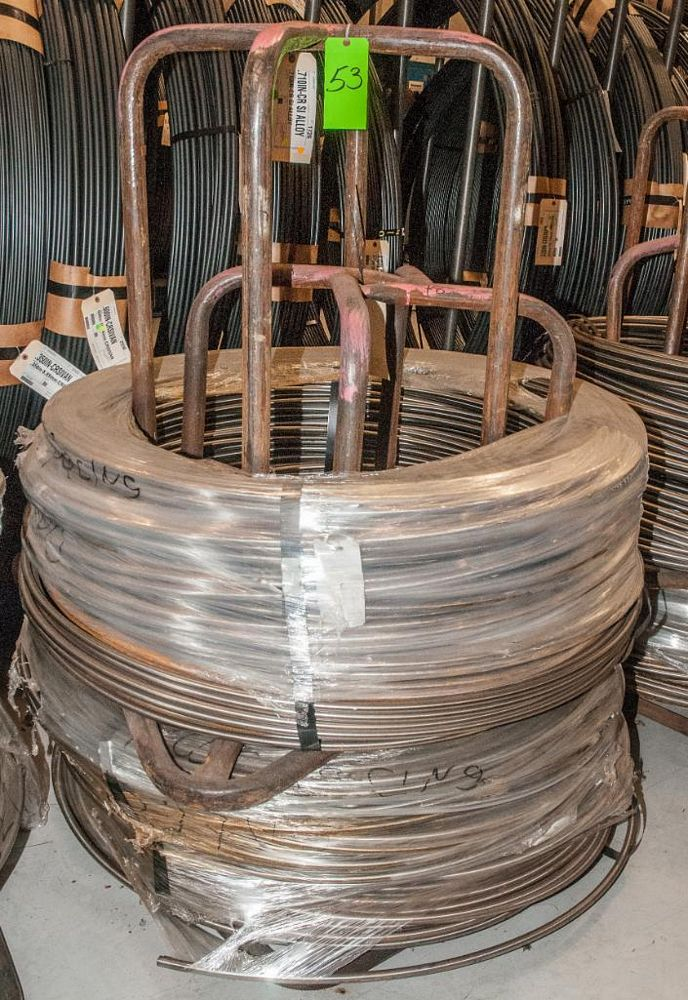 (2) Hats with coils CR SI Alloy .710 Diam. Steel, 3744 lbs. Total. According to tags, Inspect, See P