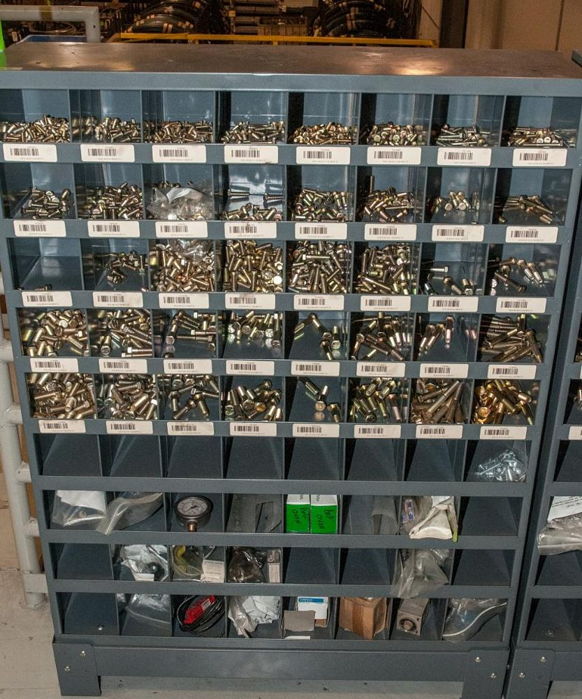 (6) Parts Bin Cabinets with Contents, Bolts, Washers Nuts, Most Grade 8 See Photos, Cabinets Have 72 - Image 2 of 7