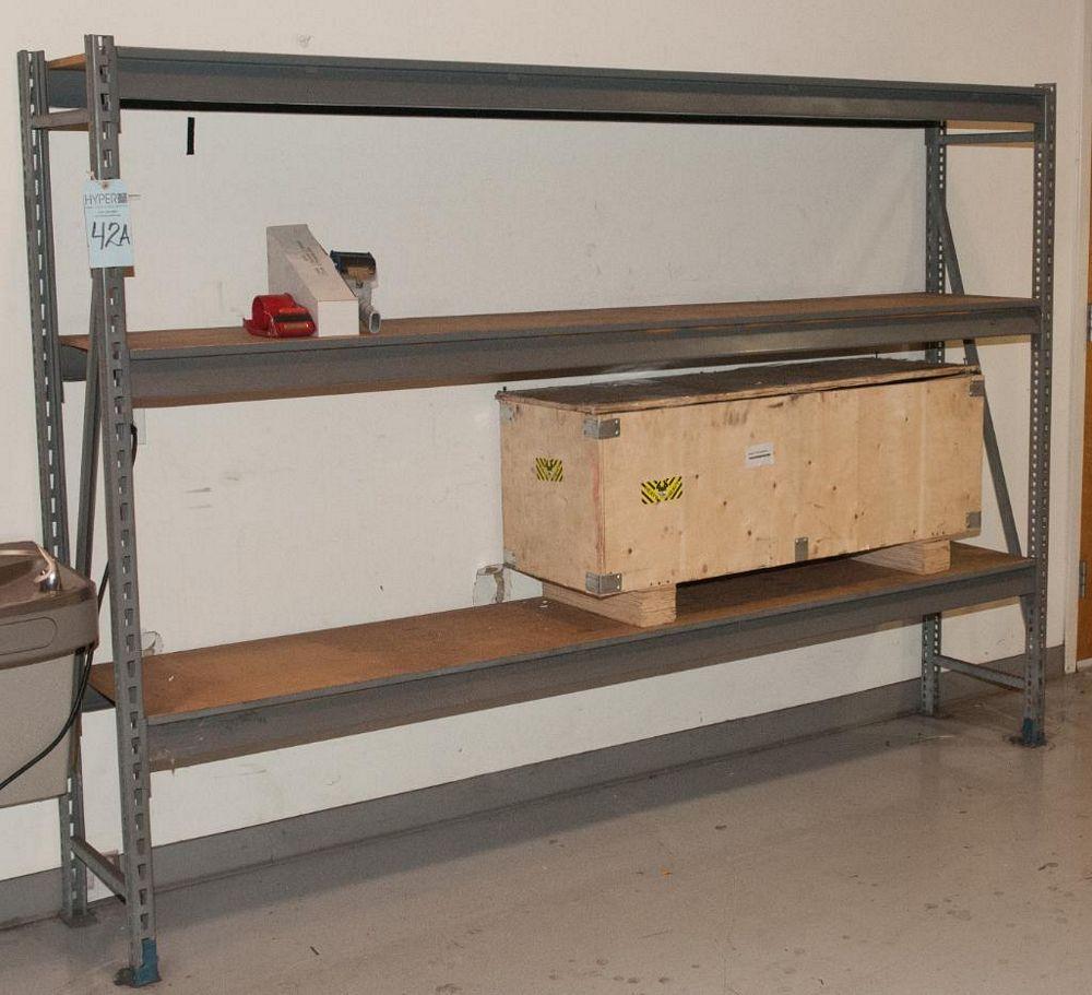 "(1) Section Steel Rack (2) Uprights 6'T x 18""w (6) 96"" Load Beams 2150 lb Cap., No Contents"