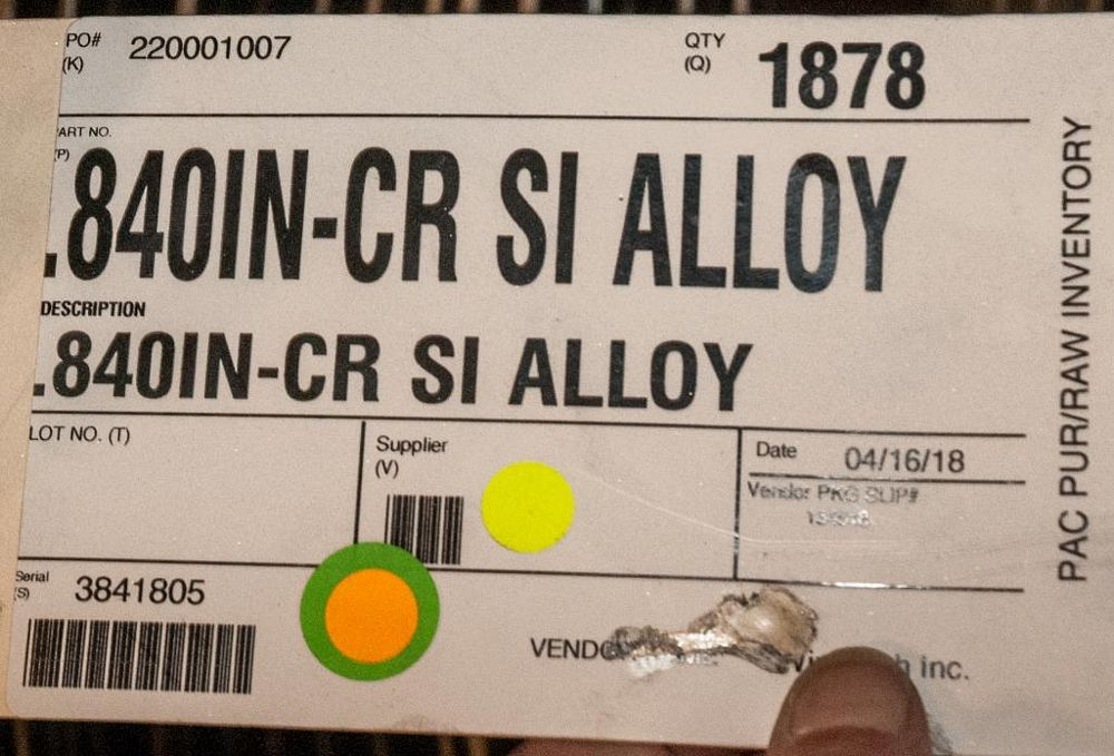 (2) Hats with coils CR SI Alloy .840 Diam. Steel, 4136 lbs. Total. According to tags, Inspect, See P - Image 3 of 3