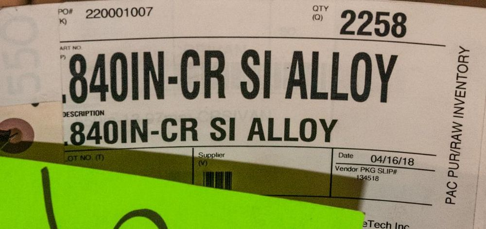 (2) Hats with coils CR SI Alloy .840 Diam. Steel, 4136 lbs. Total. According to tags, Inspect, See P - Image 2 of 3