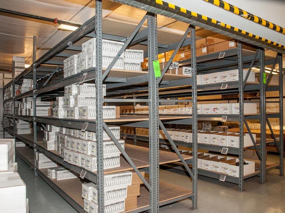 "(13) Sections Steel Racking (18) 8' x 24"" Uprights, (126) 96"" 2150 lb Cap Load Beams, No Contents (o"