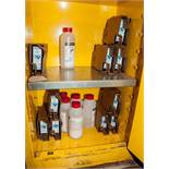 Contents of Flammable Cabinet, Ink and Cleaning Solution for VideoJet
