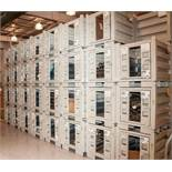 """(29) Steel Stacking Bins with Door, OD Approx. 29 1/2"""" x 29 1/2"""" x 32"""" Tall, W/ any contents Coil Sp"""