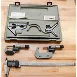"""(2) Micrometers, Products Emgeneering 12"""" Digital Caliper, Mitutoya Square"""