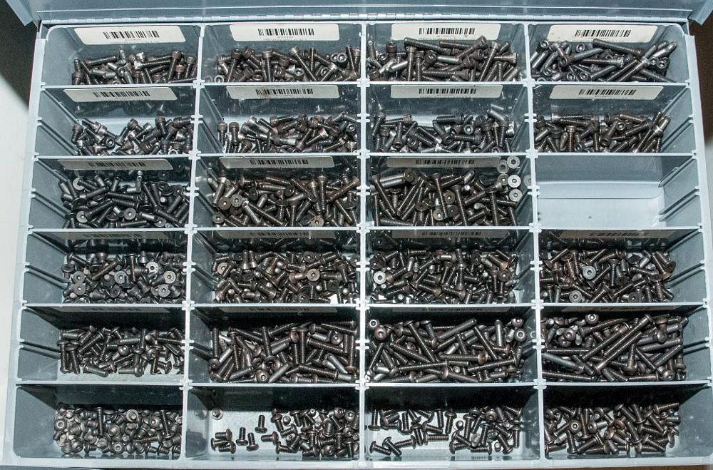 (3) Stacking cabinets of Hardware Drawers and Contents, screws etc, SAE and Metric, ea with (4) stor - Image 8 of 13