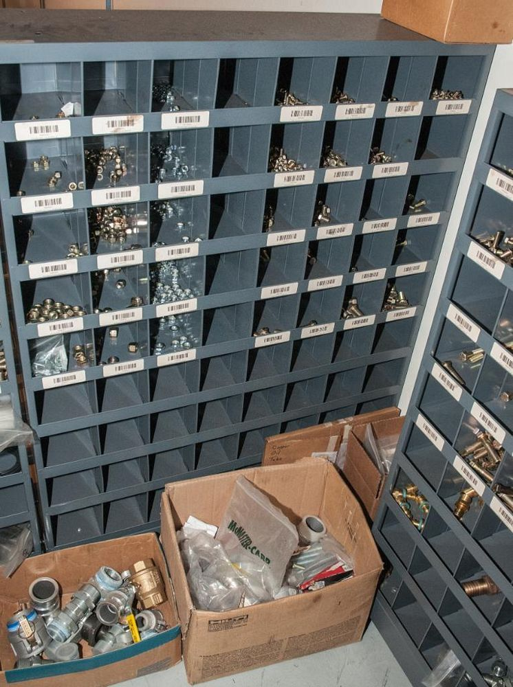 (6) Parts Bin Cabinets with Contents, Bolts, Washers Nuts, Most Grade 8 See Photos, Cabinets Have 72 - Image 5 of 7
