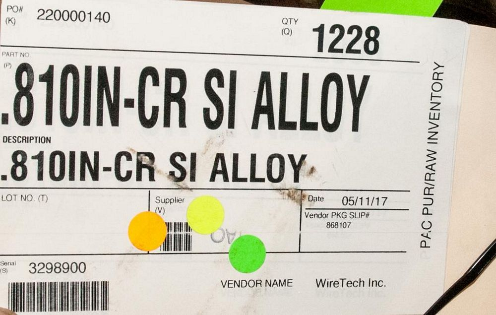 (2) Hats CR SI Alloy (1) .810 Diam. 1228 lbs. , (1) .900 Diam. 1912 lbs. Weights According to Tag, I - Image 2 of 3