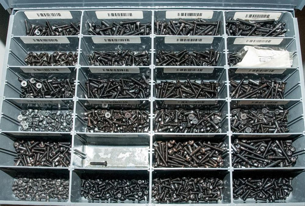 (3) Stacking cabinets of Hardware Drawers and Contents, screws etc, SAE and Metric, ea with (4) stor - Image 7 of 13