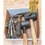 Rubber Mallets, Hammer, Screw Drivers Torx Drivers, Nut Drivers, C-Clamp