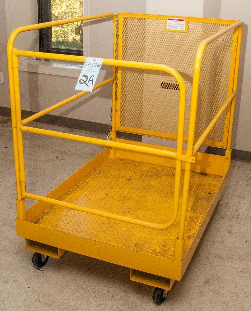 """Uline Man Basket for Forklift 36 x 48"""" Mdl. H2771, 1000 lb. Cap."""