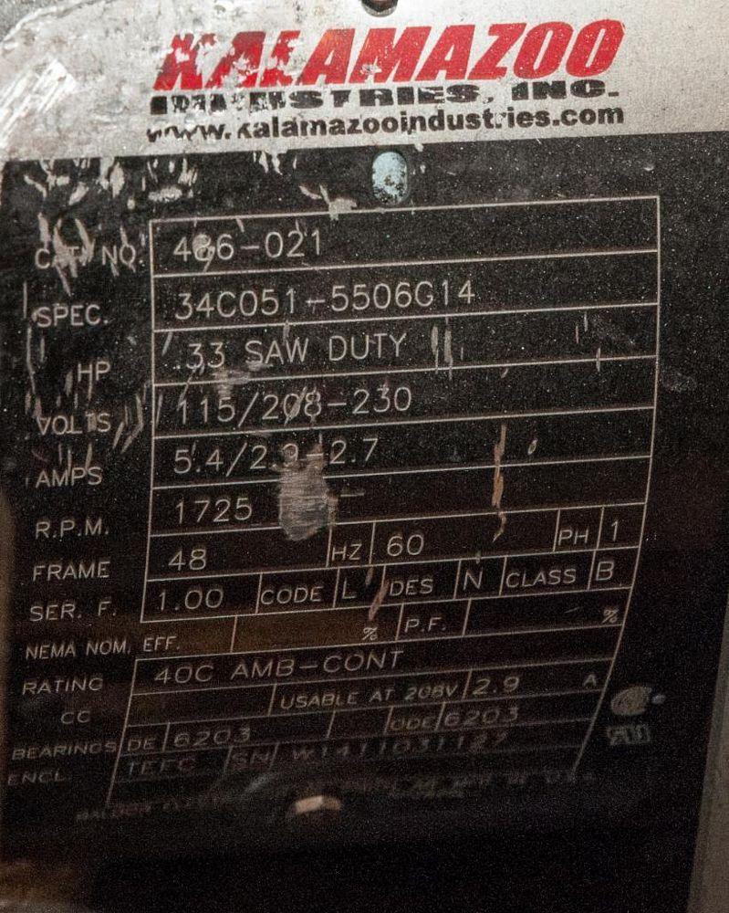 """Kalamazoo Belt Grinder, 1"""" Belt, .33hp, 110v - Image 2 of 2"""