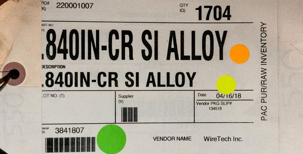 (2) Hats with coils CR SI Alloy .840 Diam. Steel, 3476 lbs. Total. According to tags, Inspect, See P - Image 2 of 3