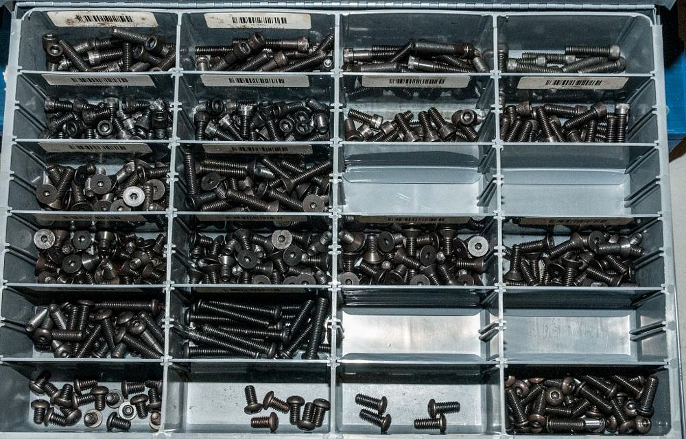 (3) Stacking cabinets of Hardware Drawers and Contents, screws etc, SAE and Metric, ea with (4) stor - Image 11 of 13