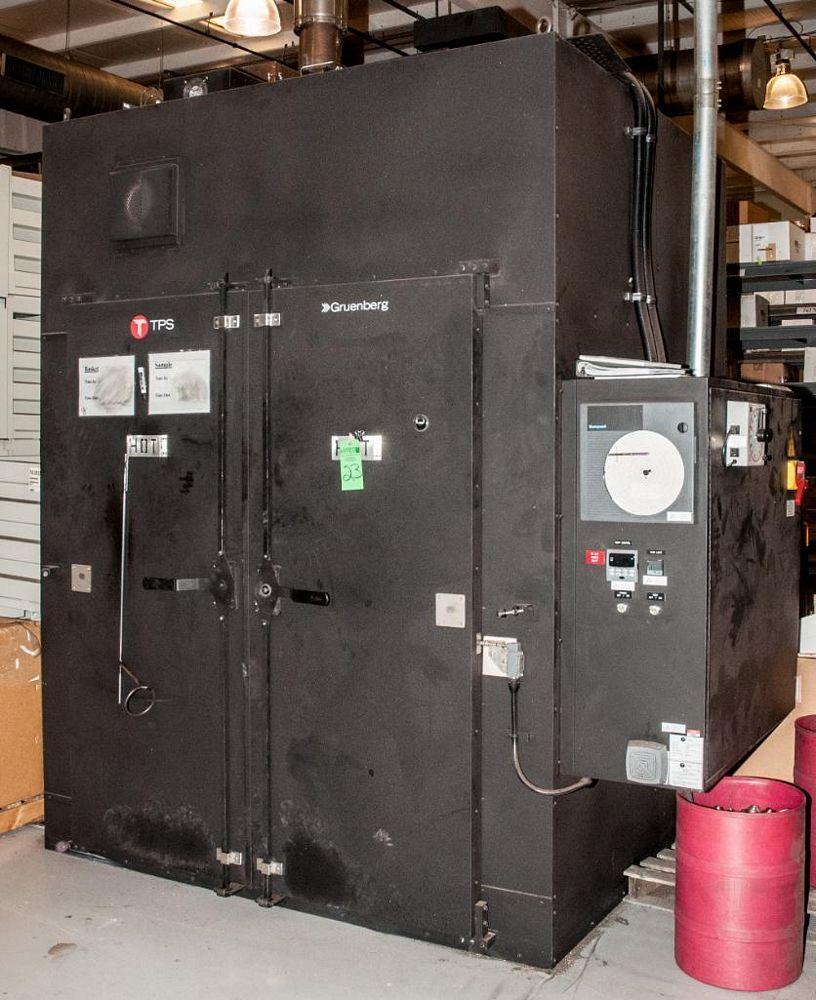 TPS Gruenberg Model T120h150.0 G, Heat Treat Oven. 15 CU Ft., Temp. Limit 1200F, 460v 3ph, Approx. E