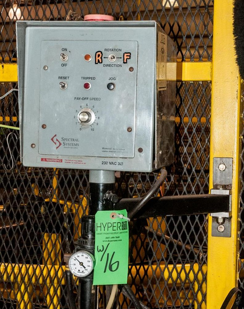 Dereeler/Unspooler and Safety Cage, Spectral Systems Controls - Image 4 of 4