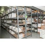 "(12) Sections Steel Racking (16) 8' x 24"" Uprights, (120) 96"" 2150 lb Cap Load Beams, No Contents (o"