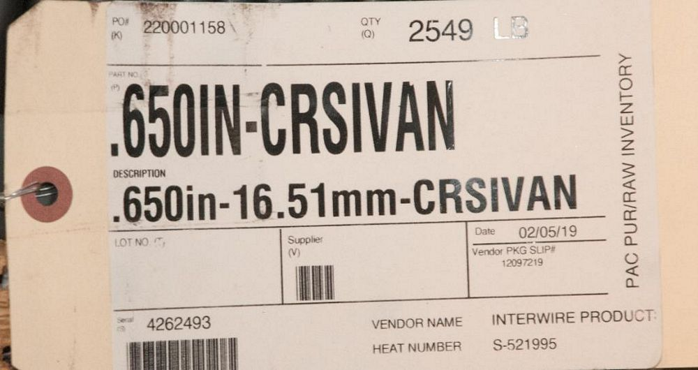(2) Hats with coils CRSIVAN .650 Diam. Steel, 5230 lbs. Total. According to tags, Inspect, See Photo - Image 2 of 3