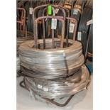 (2) Hats with coils CR SI Alloy .840 Diam. Steel, 3476 lbs. Total. According to tags, Inspect, See P