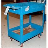 """Steel Rolling Parts Cart 18"""" x 30"""" W/ Lower Shelf"""
