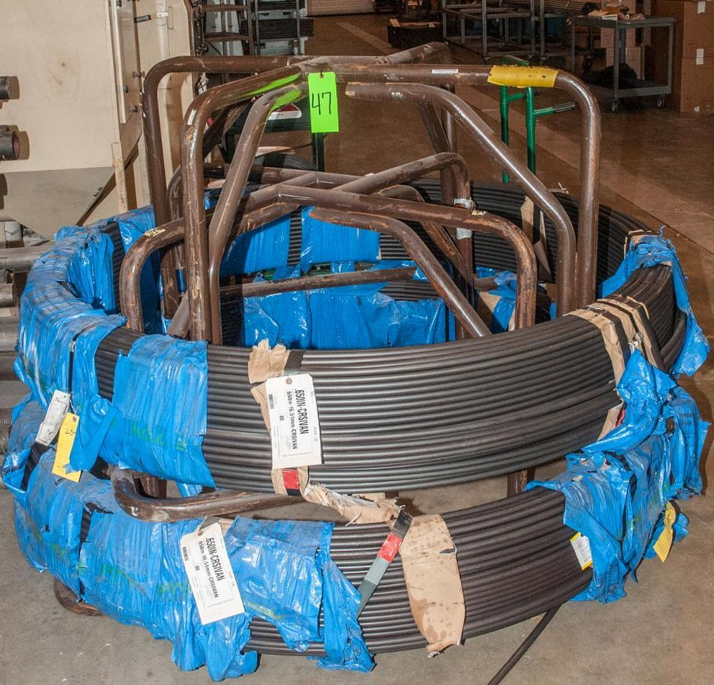 (2) Hats with coils CRSIVAN .650 Diam. Steel, 5230 lbs. Total. According to tags, Inspect, See Photo