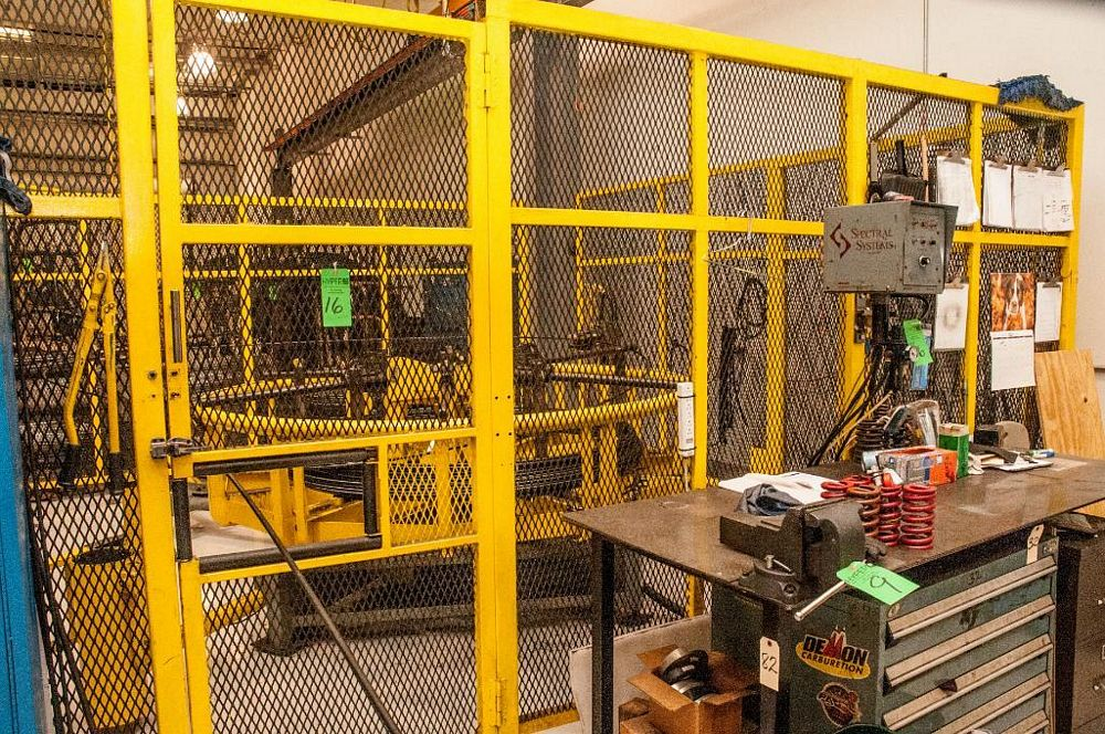Dereeler/Unspooler and Safety Cage, Spectral Systems Controls - Image 3 of 4