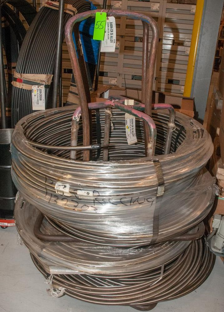 (2) Hats with coils CR SI Alloy .840 Diam. Steel, 4136 lbs. Total. According to tags, Inspect, See P