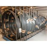Upright coil storage rack for w/21 Coils, CRSIVAN Diams. From .340-.620, 32,094 lbs Total. According