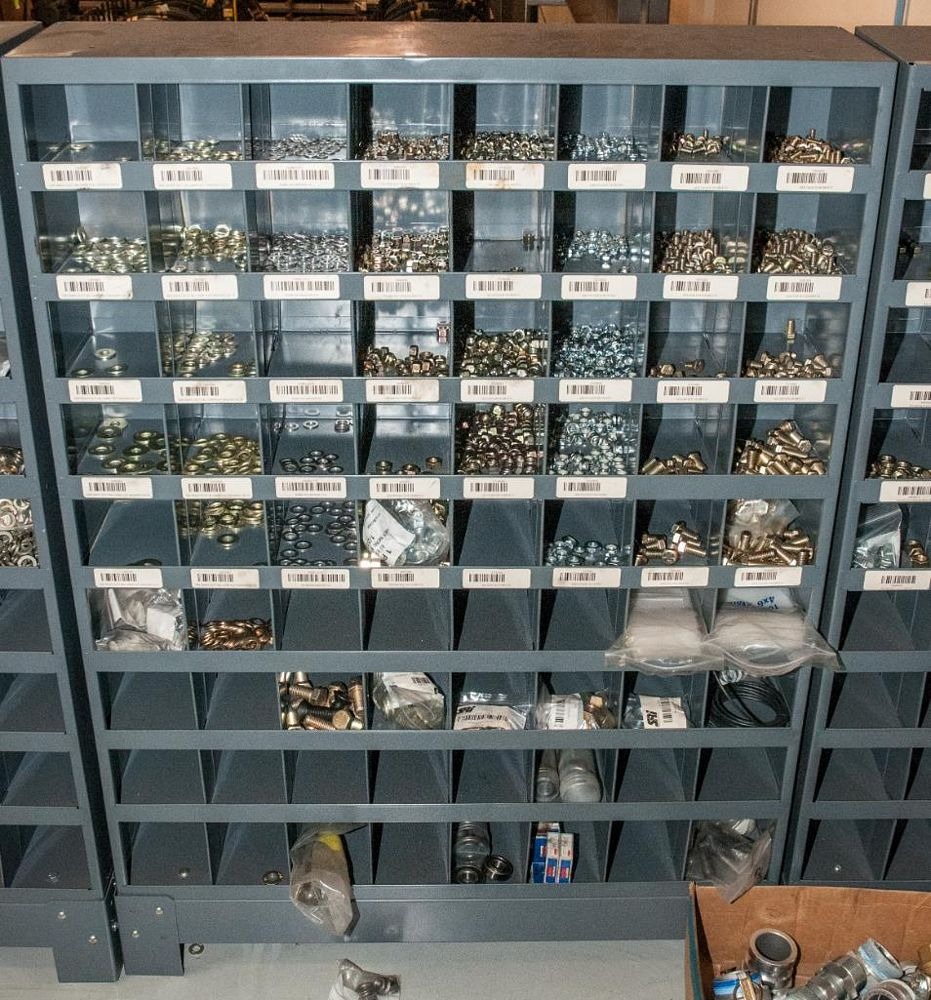 (6) Parts Bin Cabinets with Contents, Bolts, Washers Nuts, Most Grade 8 See Photos, Cabinets Have 72 - Image 4 of 7