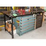 """Steel Workbench 80"""" x 36"""" x 36"""" T, No Contents"""