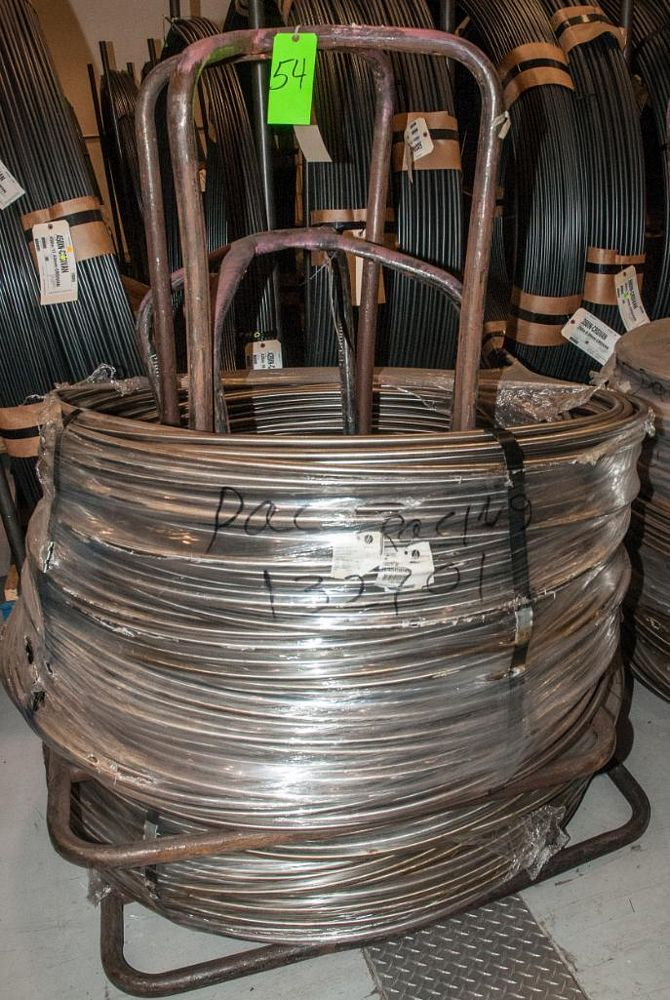 (2) Hats with coils CR SI Alloy .740 Diam. Steel, 4082 lbs. Total. According to tags, Inspect, See P