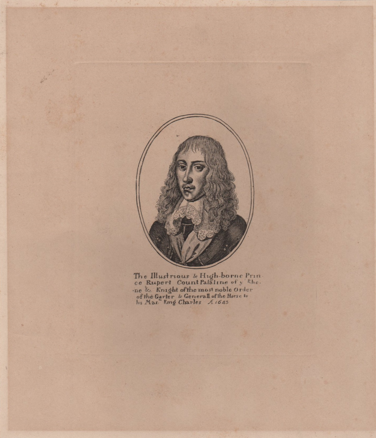 Lot 354 - RUPERT OF THE RHINE: (1619-1682) German Prince, a noted Soldier, Admiral, Scientist,
