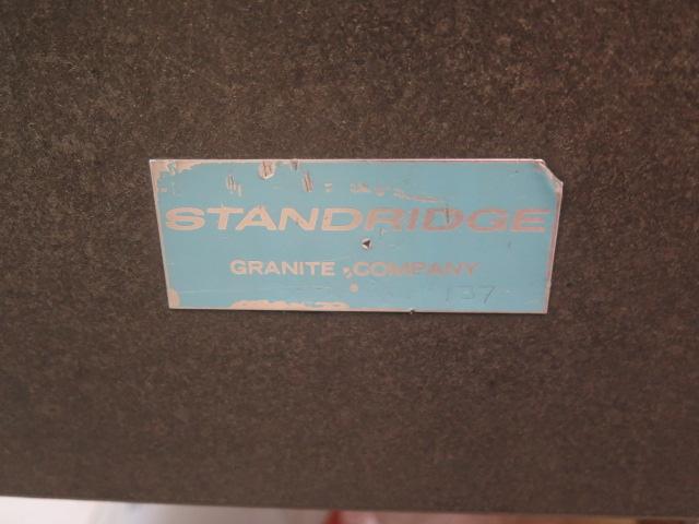 "Standridge 36"" x 48"" x 6"" Granite Surface Plate w/ Stand - Image 2 of 3"