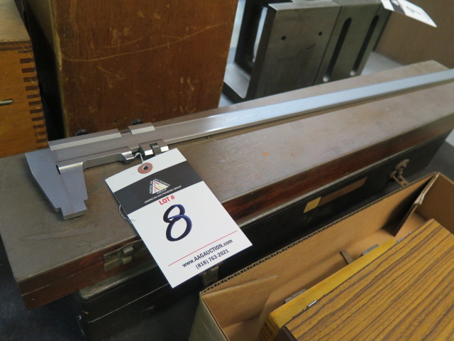 "Lot 8 - CSE 25"" Vernier Caliper and Metron 18"" Vernier Height Gage"