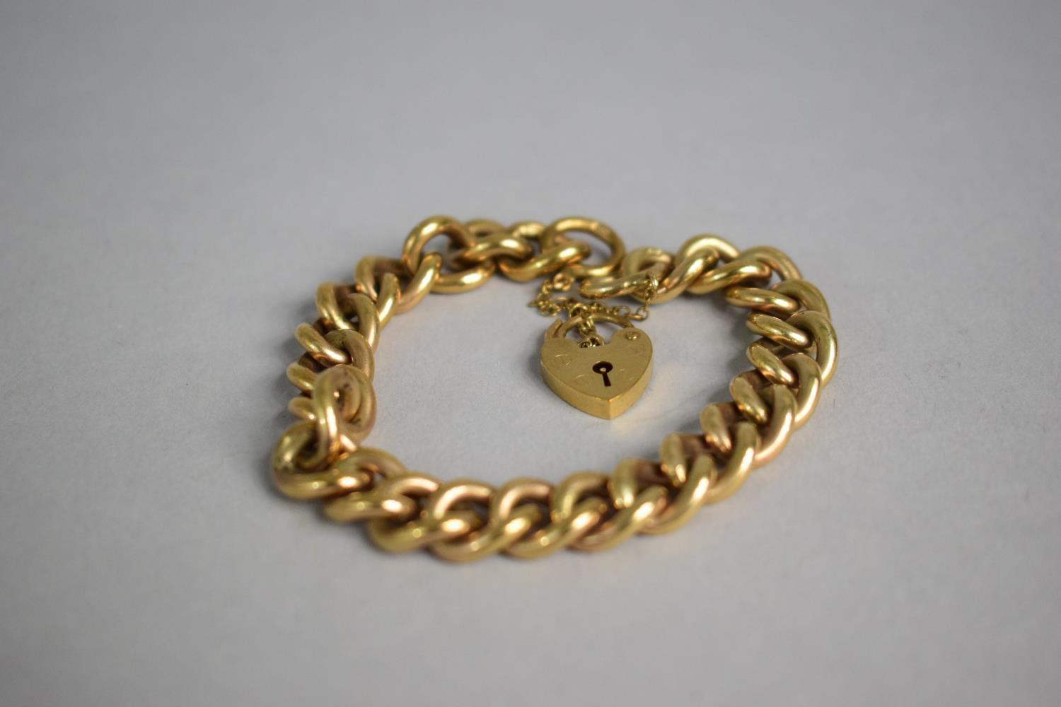 Lot 304 - A 9ct Yellow Gold Charm Bracelet, No Charms, 42.8gms
