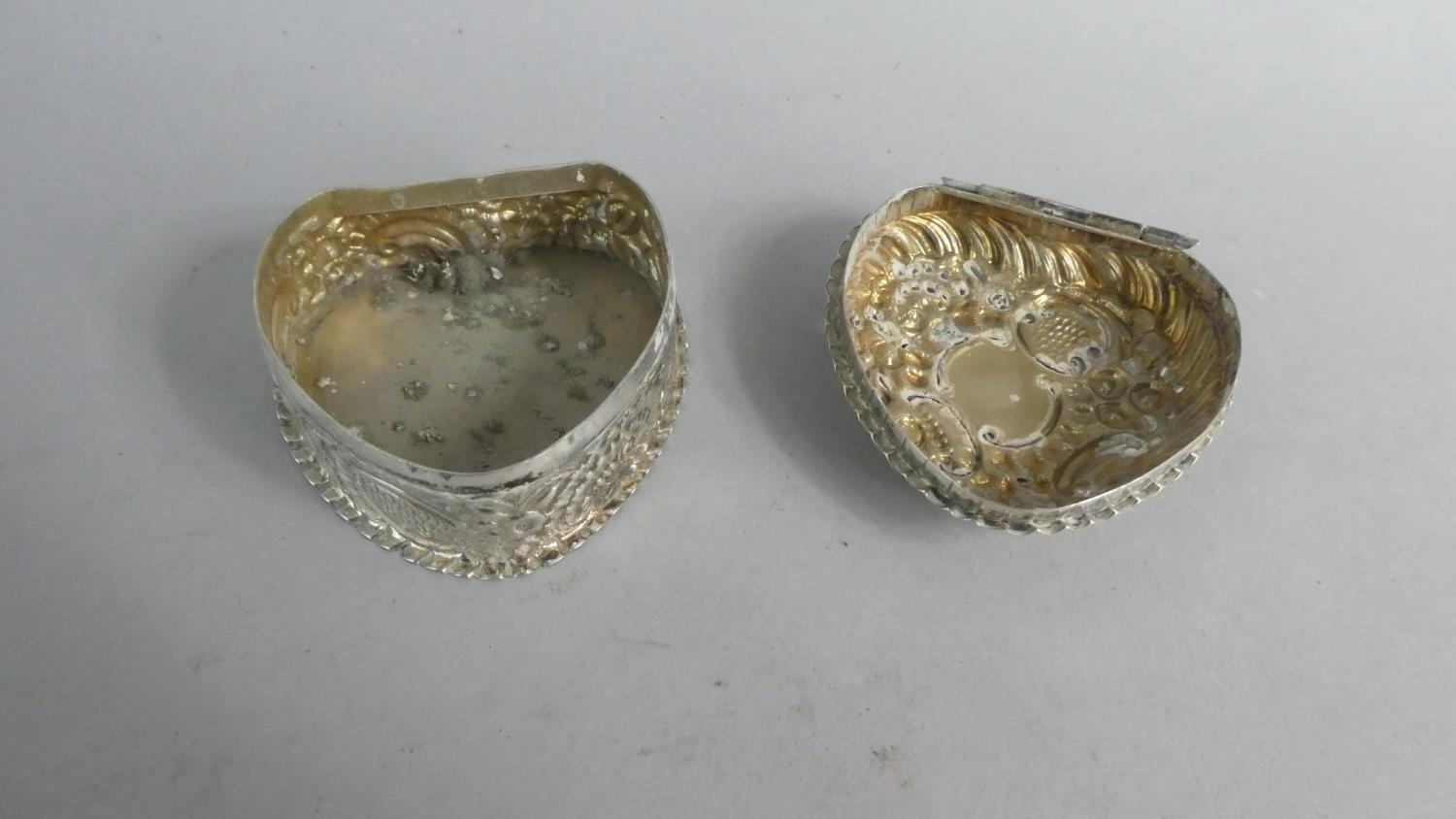 Two Heart Shaped Silver Boxes and a Silver Heart Shaped Pin Dish - Image 7 of 10