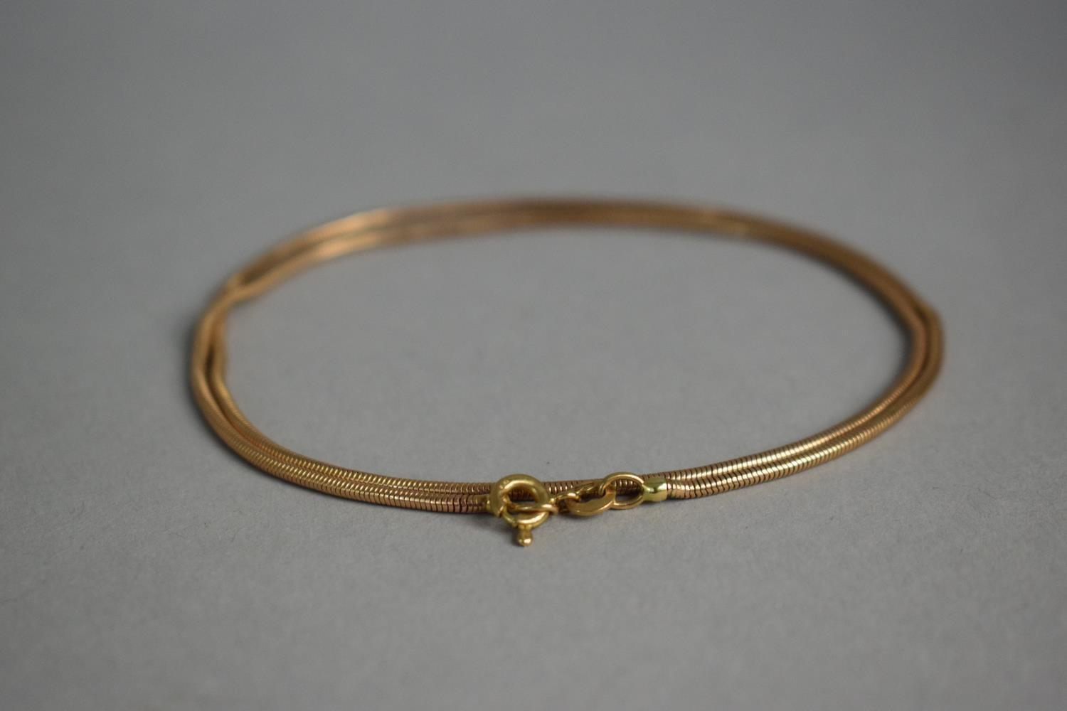 Lot 320 - A 9ct Gold Rope Necklace, 7.1gms