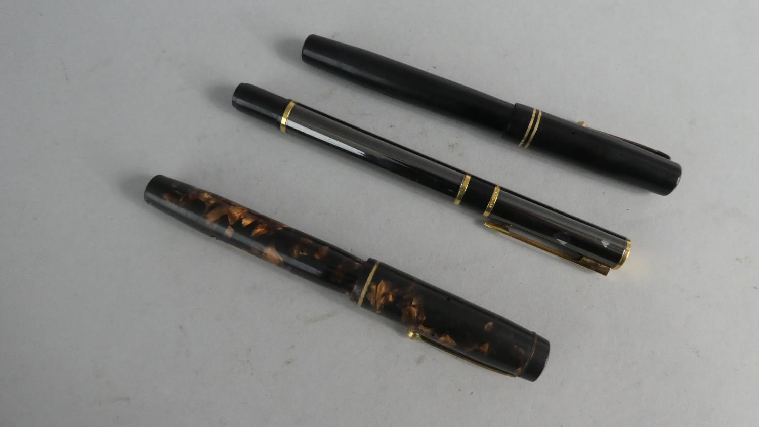 Lot 255 - Three Vintage Fountain Pens, Two with 14k Gold Nibs