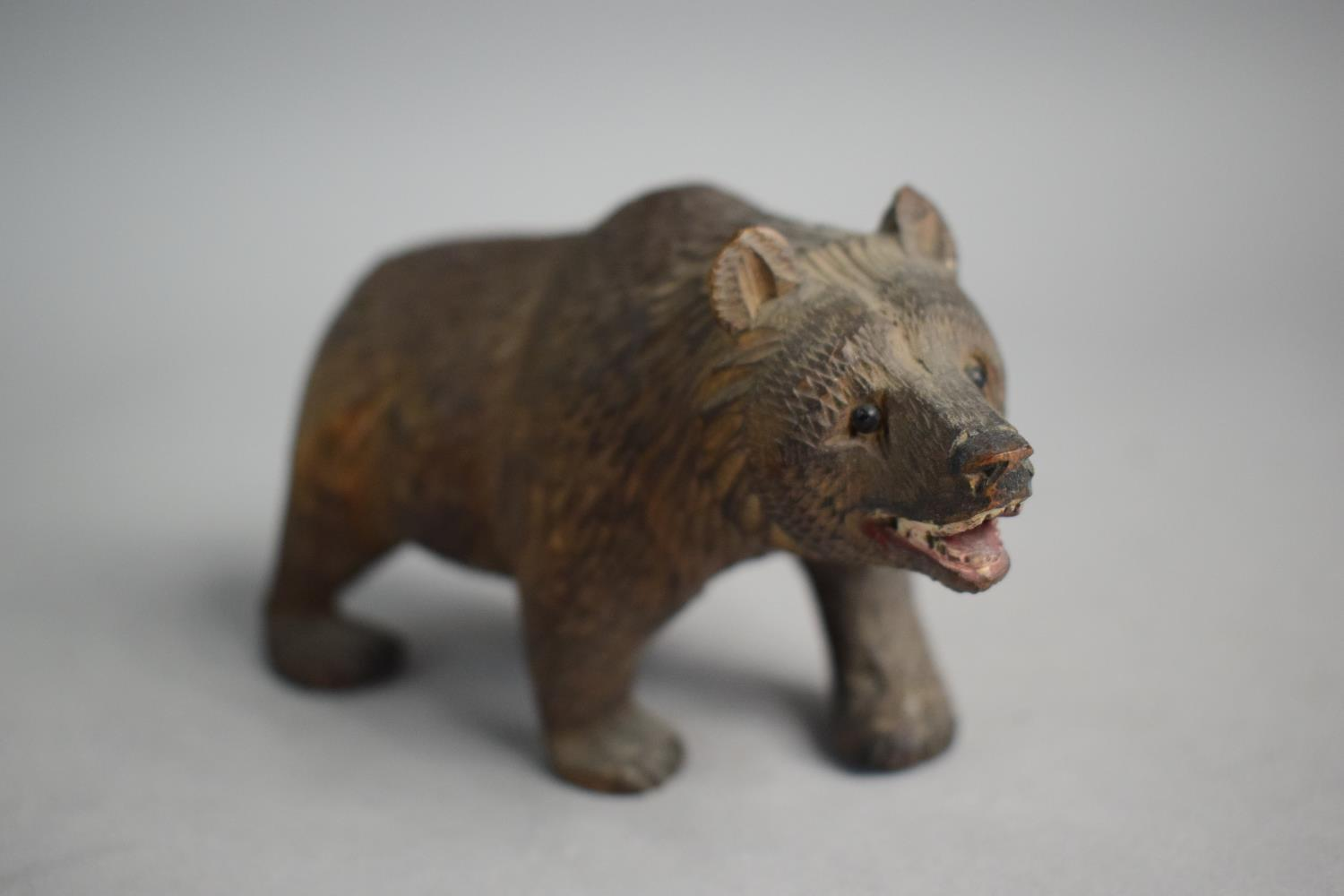 Two Small Carved Black Forest Bears - Image 4 of 4