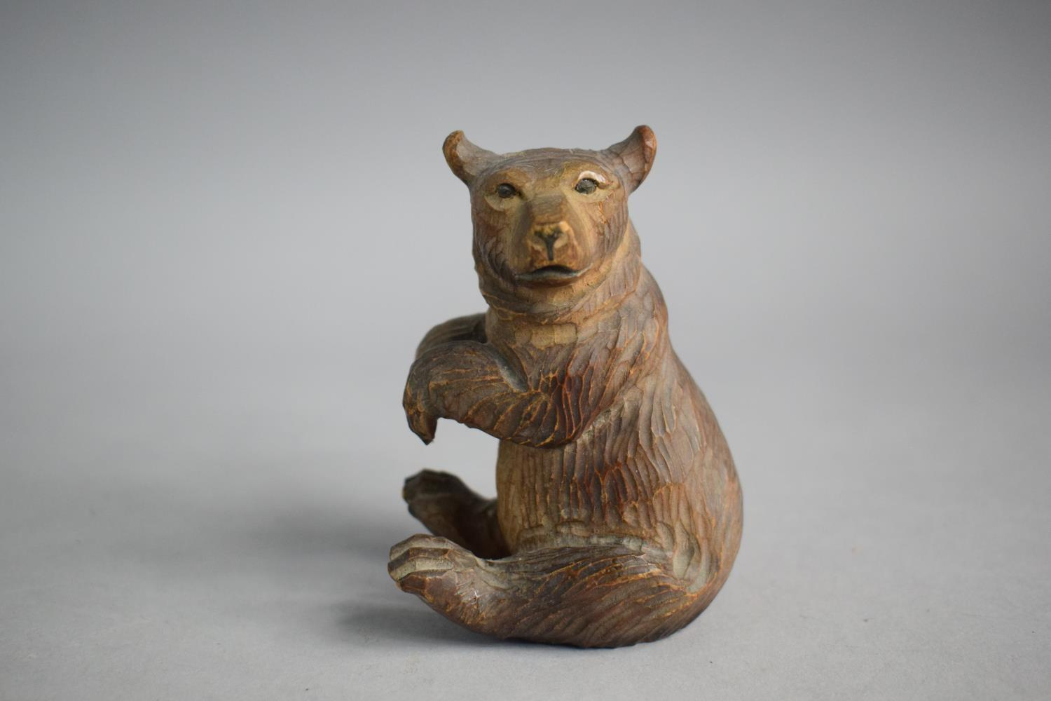 Two Small Carved Black Forest Bears - Image 3 of 4