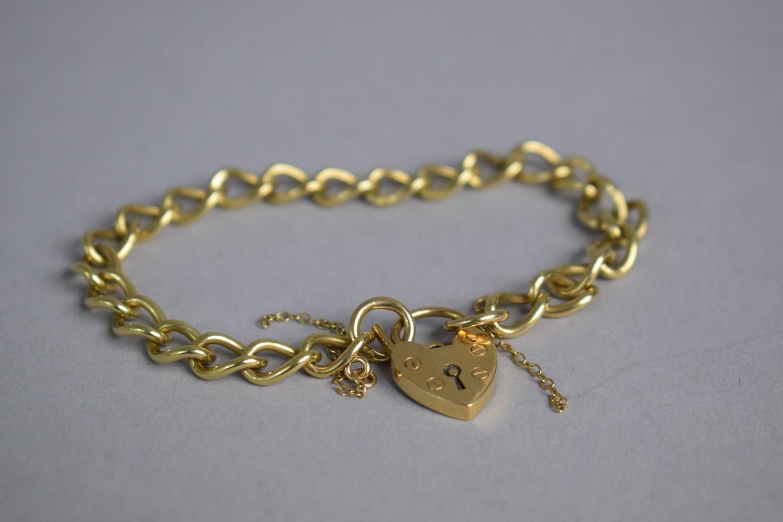 Lot 305 - A 9ct Gold Charm Bracelet-No Charms. 15.6gms