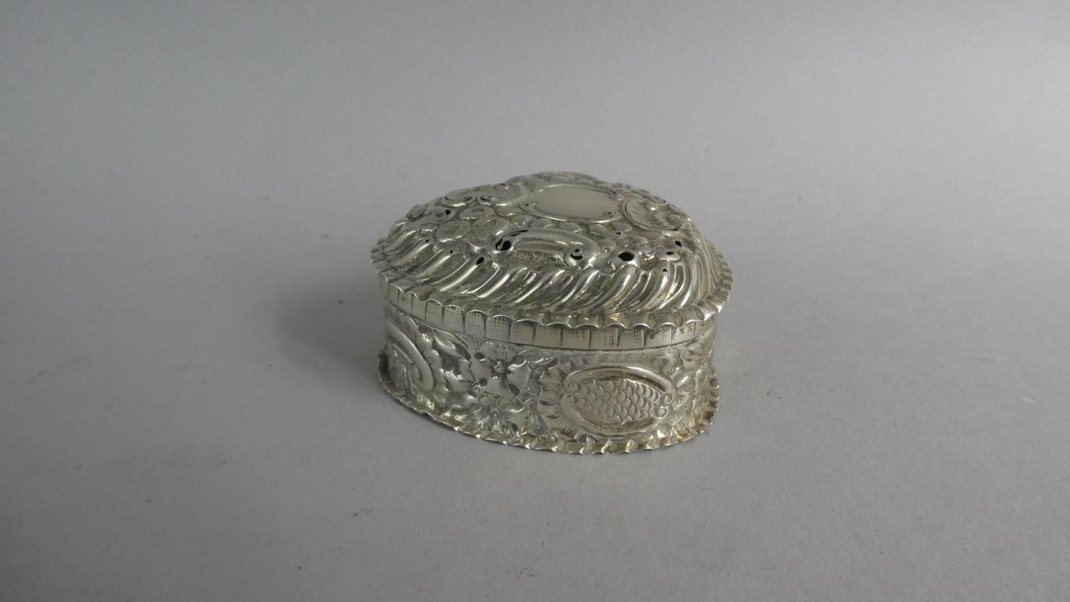 Two Heart Shaped Silver Boxes and a Silver Heart Shaped Pin Dish - Image 5 of 10