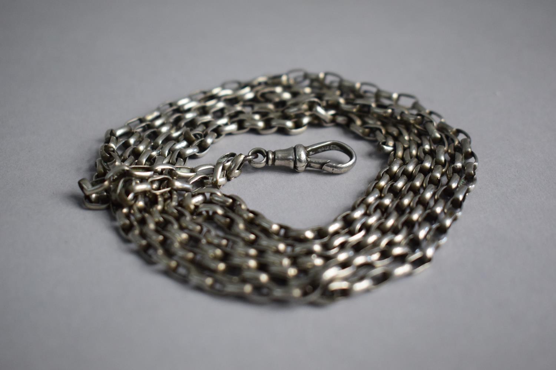 Lot 323 - A Silver Necklace Chain, 73cm Long