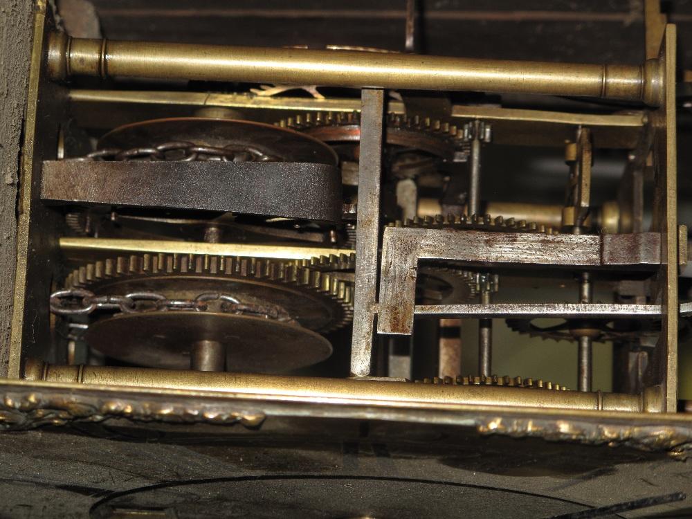 18TH CENTURY OAK 30 HOUR LONGCASE CLOCK by Edward Bilbie of Chew Stoke, - Image 7 of 10
