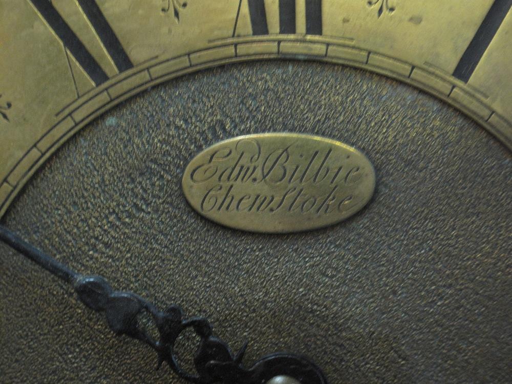 18TH CENTURY OAK 30 HOUR LONGCASE CLOCK by Edward Bilbie of Chew Stoke, - Image 4 of 10