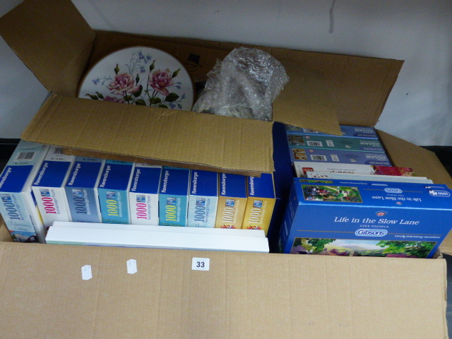 Lot 33 - A QTY OF 1000 PIECE AS NEW JIGSAW PUZZLES.