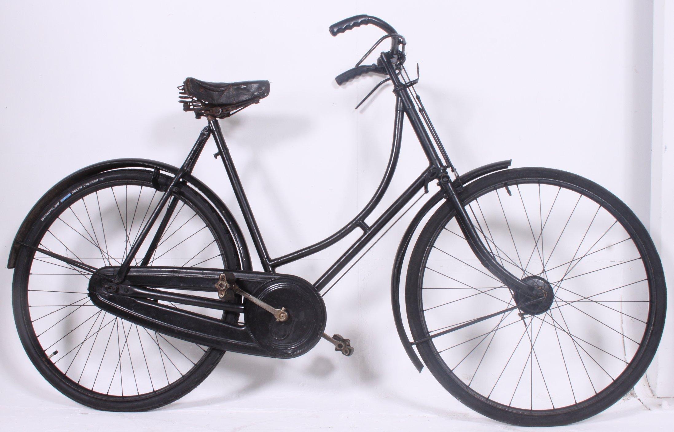A good vintage Ladies loop frame bicycle bike with hub brakes